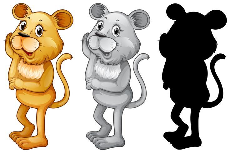 Set van vrouwelijke leeuw karakter