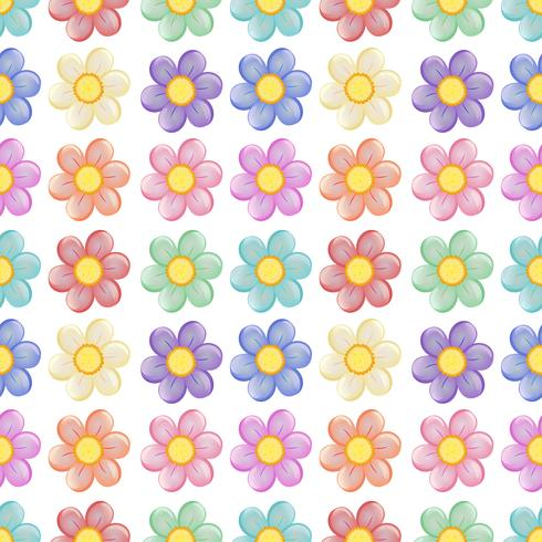 A seamless template with a floral design vector