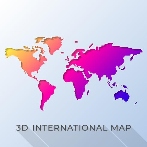 Colorful Vector World Map Illustration