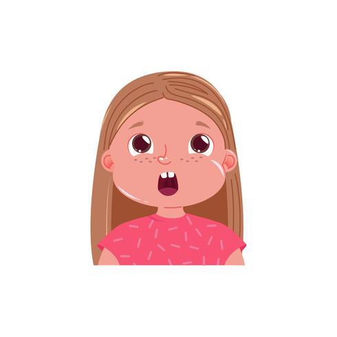 Petite Fille Mignonne Est Choquée Enfant émotion Surpris