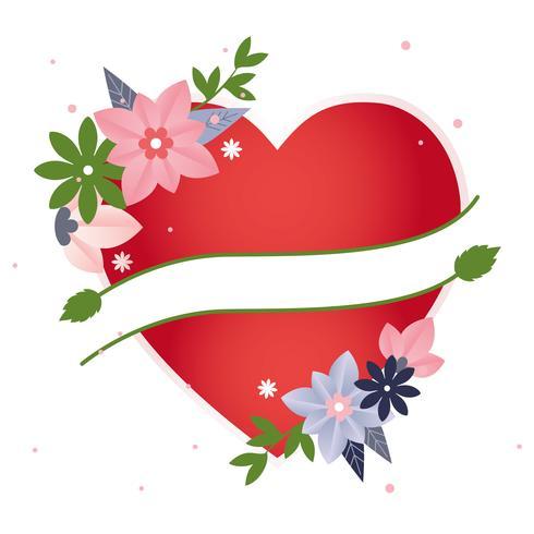 Vektor-Valentinstag-Gruß-Karte