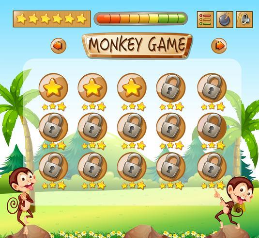 Mono juego de plantilla de selva