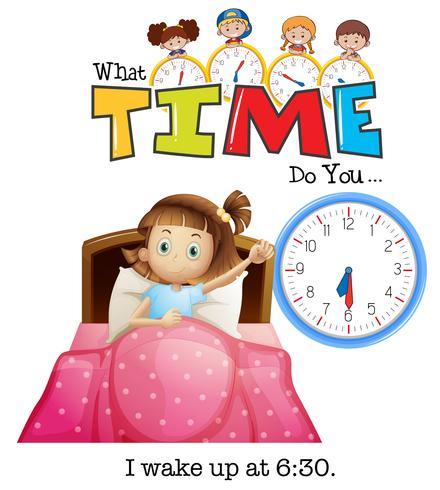 Una ragazza si sveglia alle 6:30