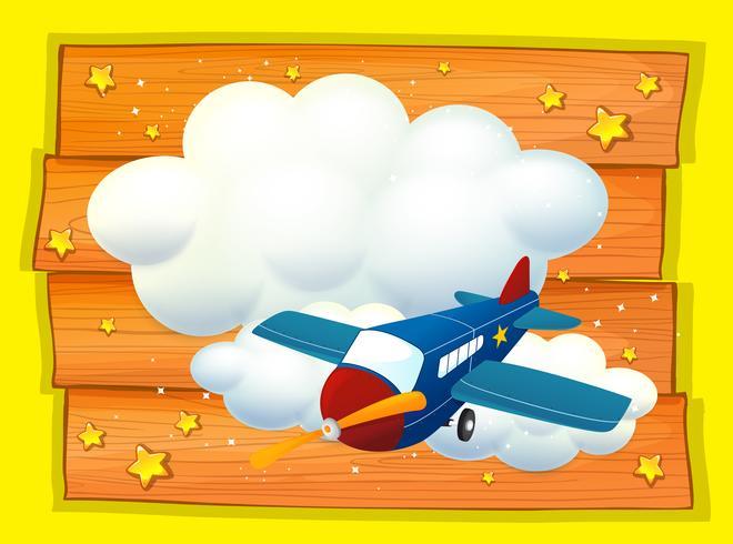 Frame ontwerp met vliegtuig vliegen