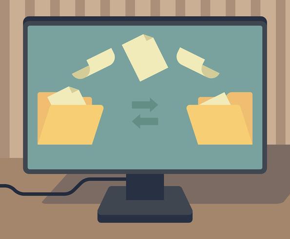 Torrent-bestand illustratie