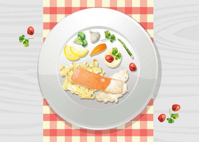Salmon and Pasta Cream Sauce