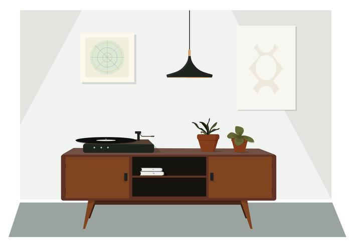 illustration de la salle de vecteur