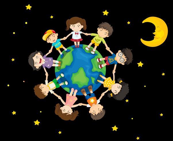 Kinderen rond de aarde