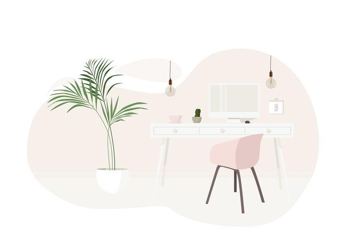 Vetorial, sala, ilustração