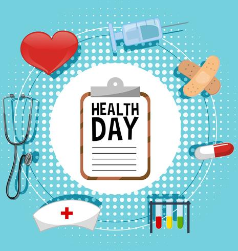 Projeto de plano de fundo com tema do dia da saúde