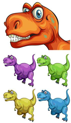 T-Rex in verschiedenen Farben