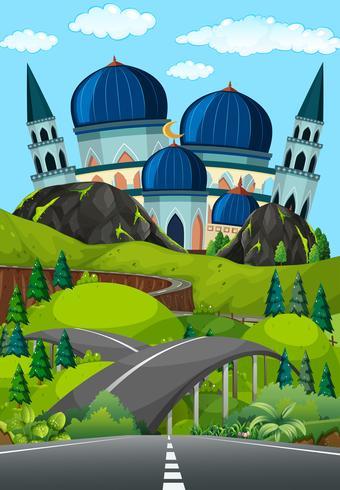 Eine Straße zur schönen Moschee