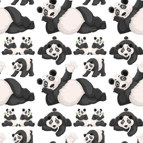 Nahtloser Hintergrund mit nettem Panda