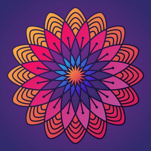 Coloridos patrones de Deepavali Kolam