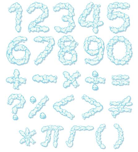 Cloud number font and math icon - Download Free Vectors ...