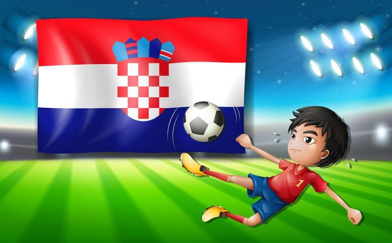 Kroatien Fußballspieler Vorlage