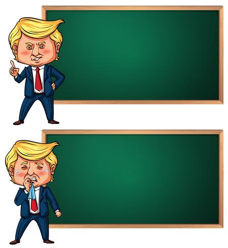 Banner mall med amerikanska presidenten Trump