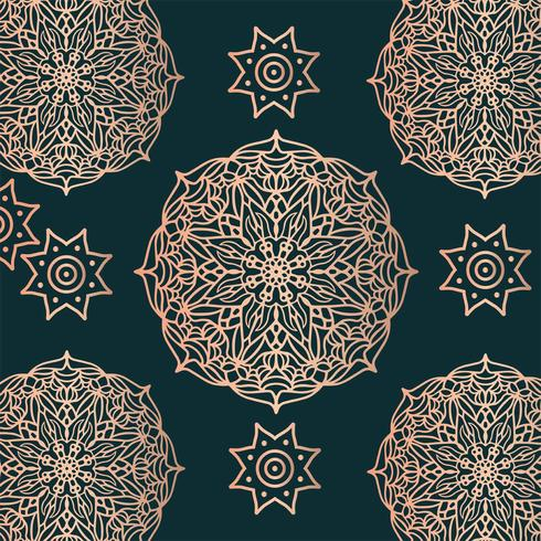 Kolam Ornament Patroon Vector Ontwerp
