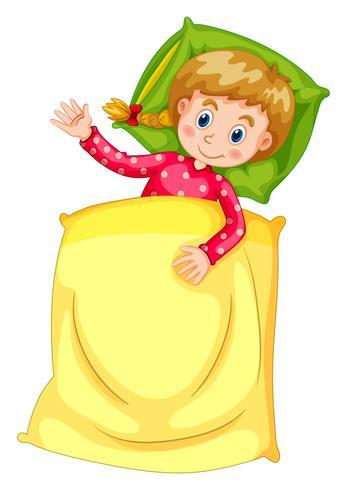 Jolie fille au lit