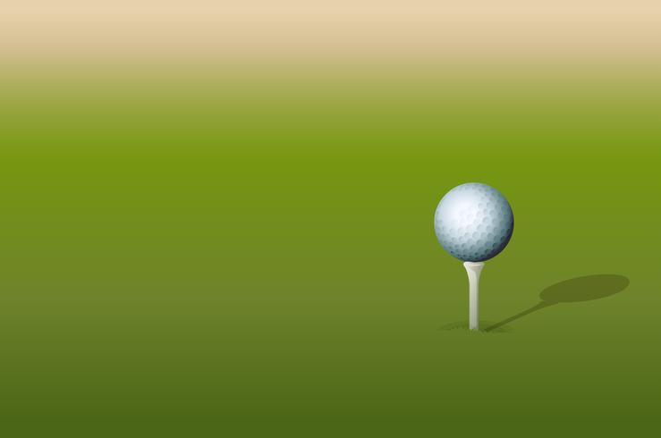 Tee och golfboll