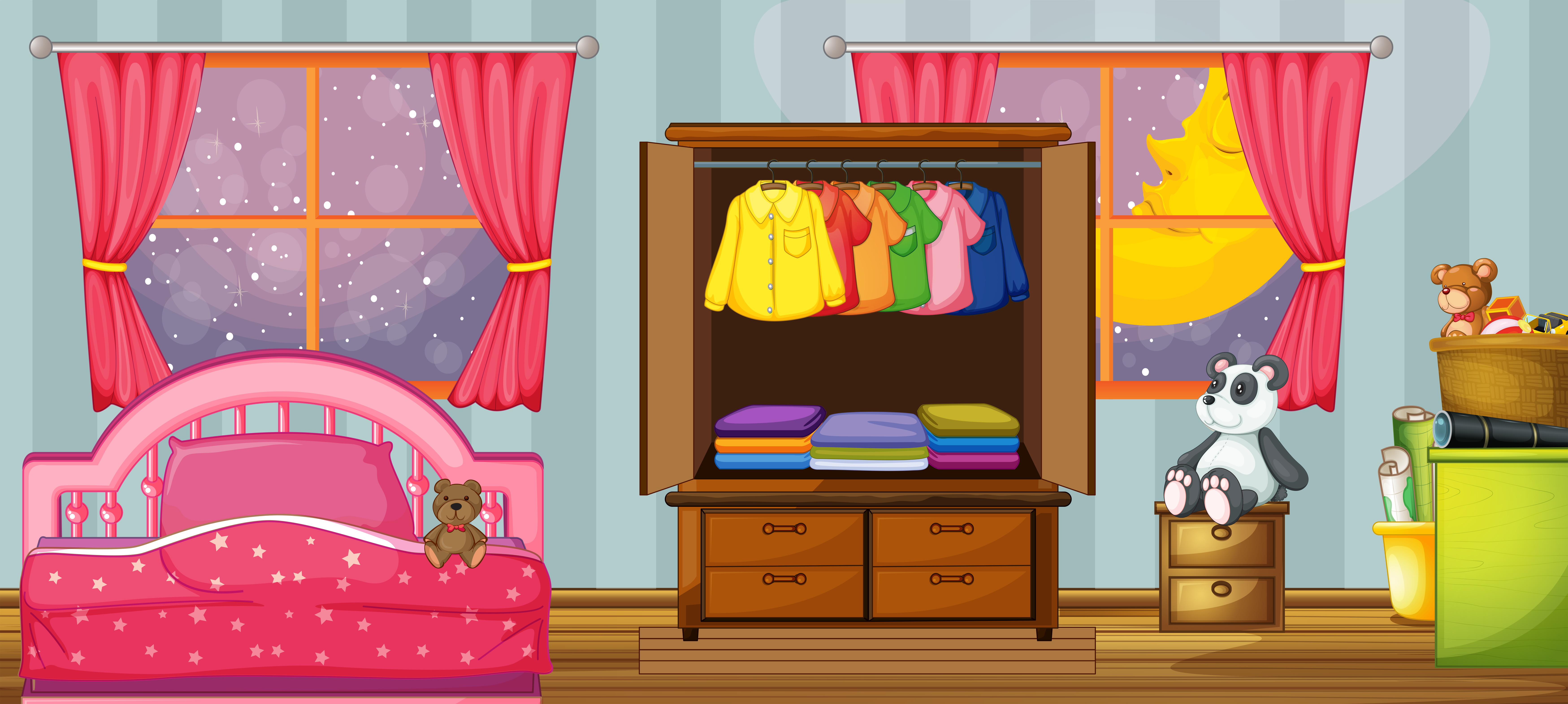a child bedroom template 359876 vector art at vecteezy