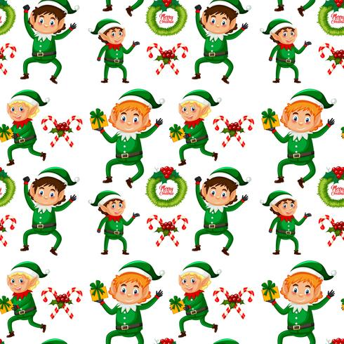 Fondo transparente de elfo de Navidad