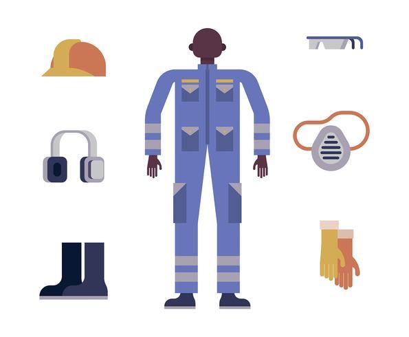 Persönliche Schutzausrüstung Illustration