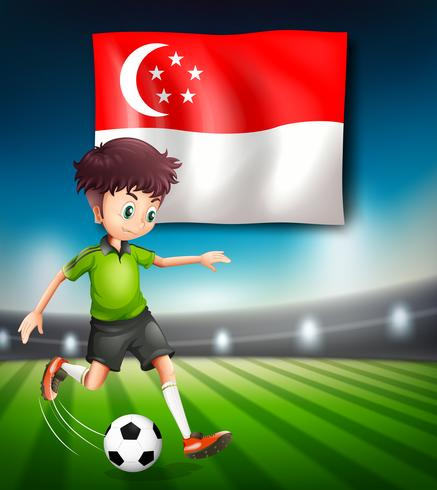 Singapore football player template