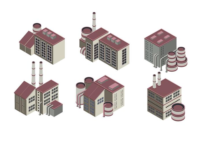 Huge Collection of Isometric Industrial Buildings