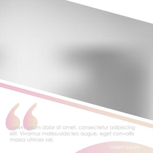 Social media banner for your blog or business. Cute pastel rose gold pink a modern design. Vector template