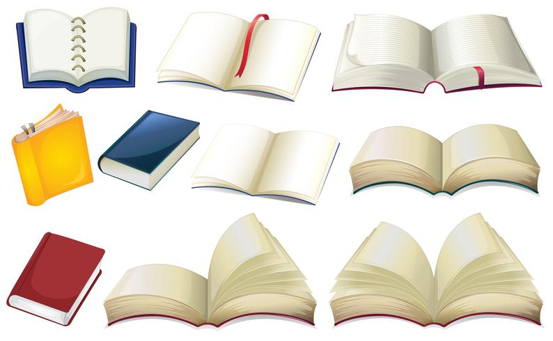 Empty books vector