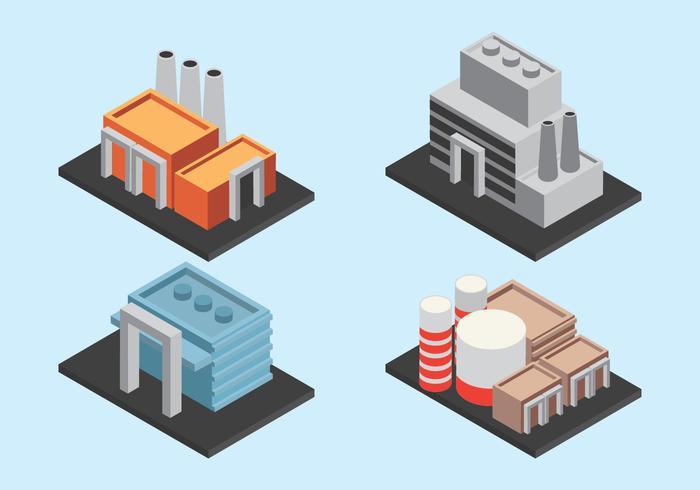Isometrische Industriegebäude
