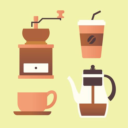 Kaffee-Clipart-Set