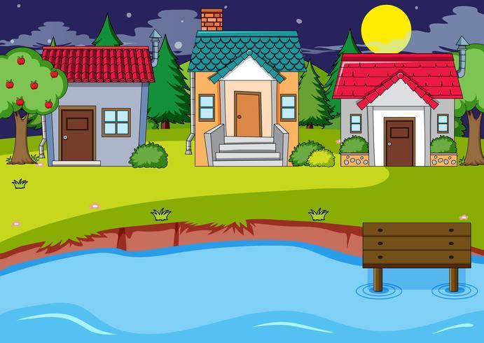 Een landelijk huisdorp
