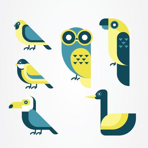 Pacote de vetores de clipart de pássaro