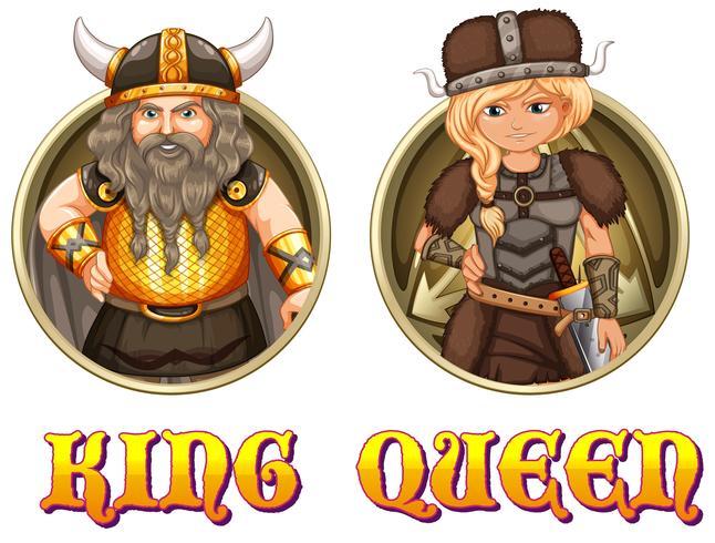 König und Königin der Wikinger