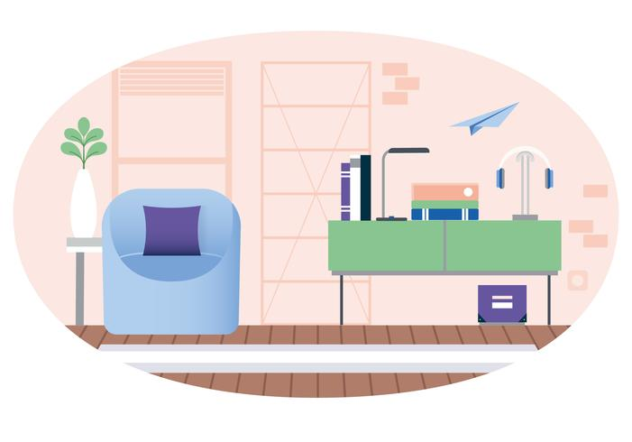 Vektor Designer Rum Illustration