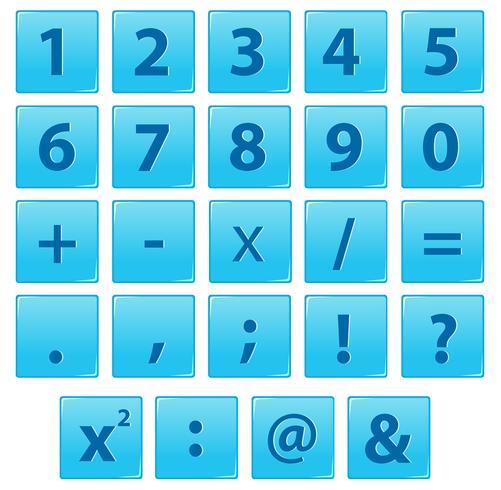 Conjunto de números e símbolo de matemática