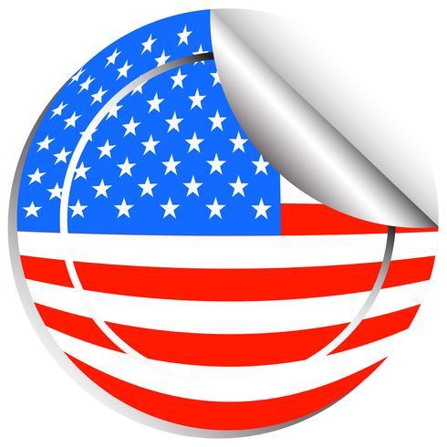 Conception d'autocollant pour le drapeau des Etats-Unis