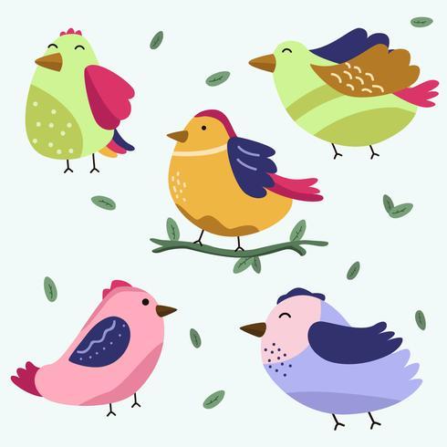 Vögel Clipart Sammlung Vektor