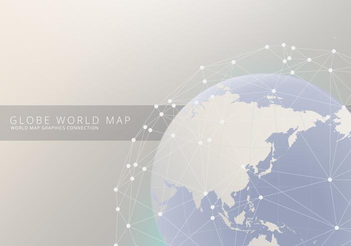 Mappa internazionale del globo 3D