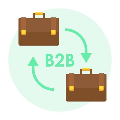 B2B-Banner Zwei Koffer für Geschäftsleute. Flache Vektorillustration