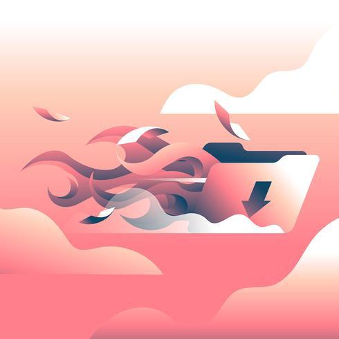 Hög hastighet Ladda ner Torrent File Illustration Vector
