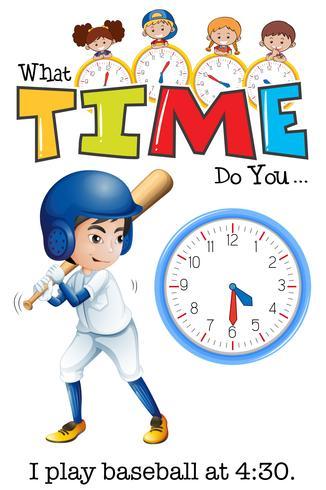 Ein Mann spielt um 4:30 Uhr Baseball