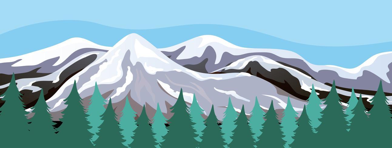 Eine schneeberglandschaft