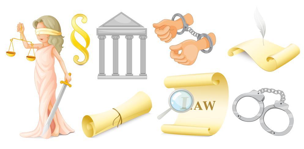 Juridische set vector