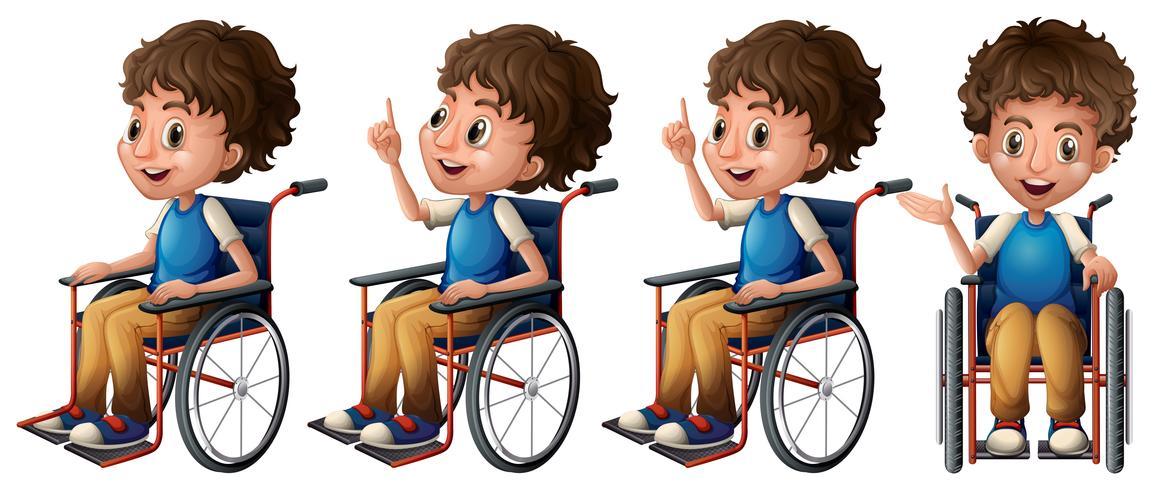 Jongen op rolstoel