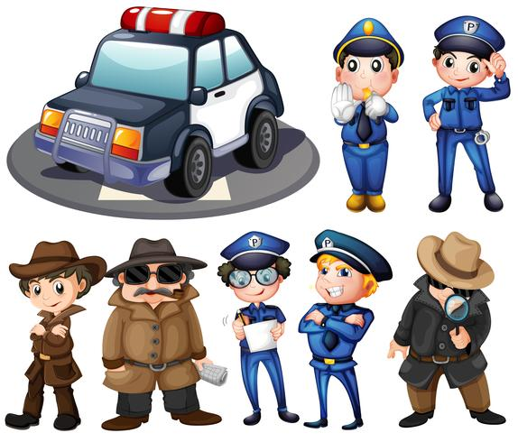 Polizei und Detektive