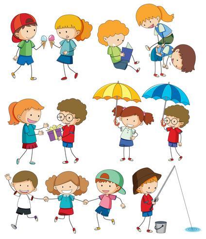 Set doodle kinderen
