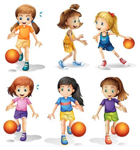 Petites joueuses de basketball